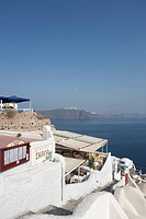outside view of hotel in Santorini, Oia, Cyclades Islands, Cyclades Prefecture, Greece, Europe