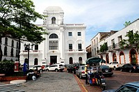 History museum of Panama, Municipal Palace building, Plaza Catedral, Casco Viejo, historic district and cultural gem of Panama City, Republic of Panam...