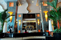 The Hotel Riu Plaza Panama, 50th Street, Calle 50, in the heart of Panama City's international banking and financial district Obarrio, Panama City, Re...