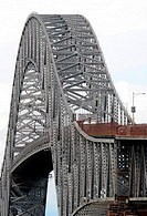 The Bridge of the Americas, Puente de las Américas, road bridge which spans the Pacific entrance to the Panama Canal, near Panama City, Republic of Pa...