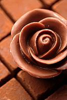 Chocolate in the shape of a rose