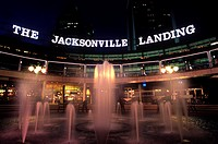 FOUNTAIN CENTRAL PLAZA JACKSONVILLE LANDING SHOPPING MALL DOWNTOWN JACKSONVILLE FLORIDA USA