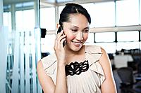 Businesswoman talking via cell phone