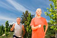 Mature couple jogging (thumbnail)