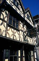 Timbered building. The Garrick Inn. Associated with actor/ Shakespeare.