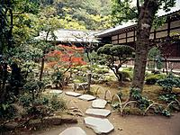 The Garden of Hojo at Engaku_ji Temple,the Temple of the Spirit is one of the most important Zen Buddhist temple complexes in Japan The temple was fou...