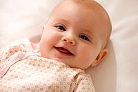 Smiling Caucasian baby girl