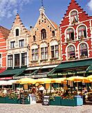 Bruges is a large former port in the Flemish part of Belgium,a UNESCO world heritage site,and the Markt or market square in the centre of the old town...