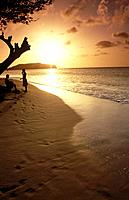 Sunset or sundown is one of the attractions of the islands of the Caribbean West Indies.
