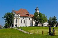 Wieskirche, Wies church, Wies, Near Steingaden, UNESCO World Heritage Site, Romantic Road, Romantische Strasse, Upper Bavaria, Bavaria, Germany