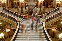 Staircase in the Opera Garnier, Paris, France
