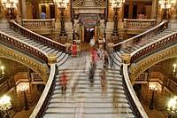 Staircase in the Opera Garnier, Paris, France