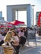 Paris, France, La Défense Business Center, People on Outdoor Café Terrace