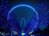 Illuminated London Eye
