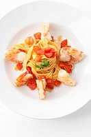 king prawns with italian pasta