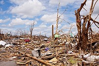 Utter devastation after a tornado in Joplin, Missouri, May 25, 2011  On May 22, 2011, Joplin Missouri was devastated by an EF-5 tornado
