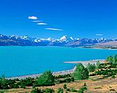 Mount Cook and a Lake Pukaki. New Zealand