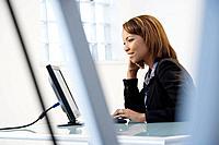 Businesswoman on computer