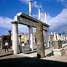 Herculaneum. Excavations of Roman town buried by volcanic ash when Vesuvius erupted in AD79.