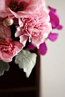 Flower bouquet, close up, white background