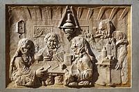 D-Koblenz, Rhine, Moselle, Maifeld, Eifel, Hunsrueck, Westerwald, Rhineland-Palatinate, old city, Rheinstrasse, Rhine Street, relief, stone carving, s...