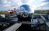 Cite de Sciences. Shiny reflective dome. Set on water. Park. EducationScenics & landscapes