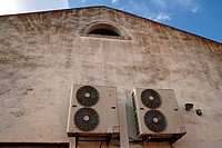 industrial building, air conditioners, Sant Jaume d'Enveja, Catalonia, Spain