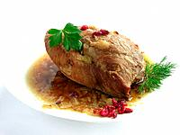 baked pork meat
