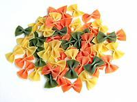 multicolor raw dry maccaroni