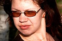 Portrait of the girl in glasses