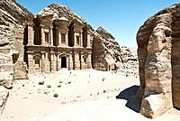 Petra. The Monastery at the ancient city of Petra. Petra was the capital of the Nabatean kingdom and was carved into a red sandstone gorge over 2000 y...