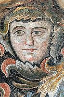 Byzantine mosaic. This mosaic was built in the ancient city of Edessa in what is now Sanliurfa, Turkey. It was uncovered at an archaeological site in ...