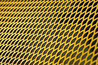 Yellow metal grid