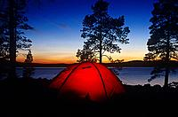 Lake Femunden is in the popular wilderness area of Hedmark,in pine forests. It is a popular camping place in winter and summer.