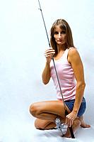 Model With Fishing Pole