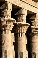 The Temple to Isis on Agilka Island is dedicated to Isis the mother god. There are carved papyrus style columns around the central structure. It is a ...
