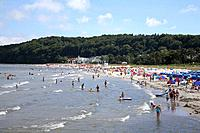 Rugen is an island on the Baltic sea coast,and a popular travel destination with large beaches and holiday resort hotels.
