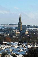 The best view of Salisbury Cathedral and the city can be seen from Harnham Hill.