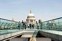 The London Millennium Footbridge is a pedestrian_only steel suspension bridge crossing the River Thames linking Bankside with the City. There is a goo...