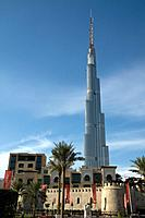 The Burj Dubai is a tall skyscraper under construction in Dubai and the tallest man_made structure ever built,at 818 m or 2,684 ft. Image shot in July...