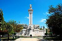 In the central square,The Plaza de Espana,the Monumento a la Cortes or the Monument to the Constitution of 1812,commemorates the first Spanish constit...