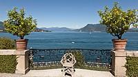 Garden of isola bella, Lake Maggiore, Italy.