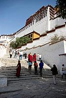 The Potala Palace is located in Lhasa,Tibet Autonomous Region,China. It was named after Mount Potala,the abode of Chenresig or Avalokitesvara.