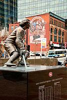 Canada, Quebec, Montreal, Bell Centre, statue of Guy Lafleur