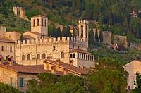 Gubbio, Consul´s Palace, palazzo dei consoli, Umbria, Italy, Europe.