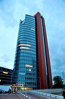 Unisys Donaucity Strasse offices building tower, Vienna, Austria