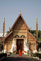 Thailand, Chiang Rai, Wat Phra Singh buddhist temple