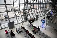 Thailand, Bangkok, Suvarnabhumi Airport, departure lounge.