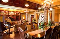 luxurious estate home dining room and living room, st. albert, alberta, canada