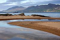 beach at ballymastocker bay, knockalla beach, portsalon, county donegal, ireland